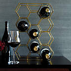 View 11-Bottle Gold Wine Rack - image 6 of 8