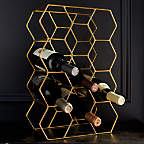View 11-Bottle Gold Wine Rack - image 5 of 8