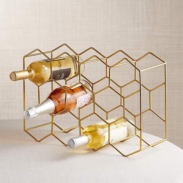 11 Bottle Gold Wine Rack Reviews, Wine Bottle Storage Inserts
