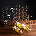 View 11-Bottle Gold Wine Rack - image 7 of 8