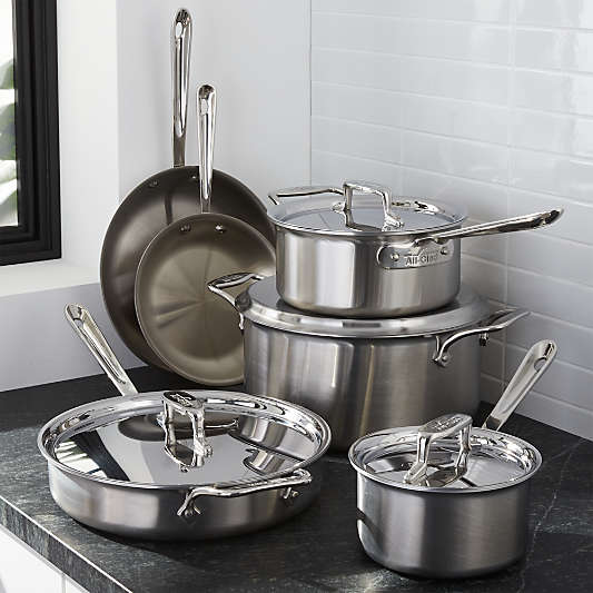 All-Clad ? d5 ? Brushed Stainless Steel 10-Piece Cookware Set with Bonus