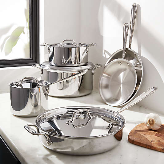 All-Clad ? d3 Stainless Steel 10-Piece Cookware Set