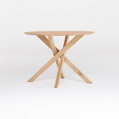 Apex White Oak 42 Round Dining Table, Round Table 42