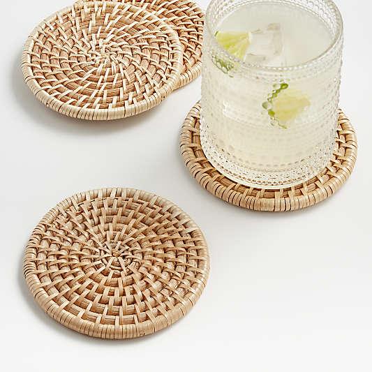 Artesia Natural Coasters, Set of 4