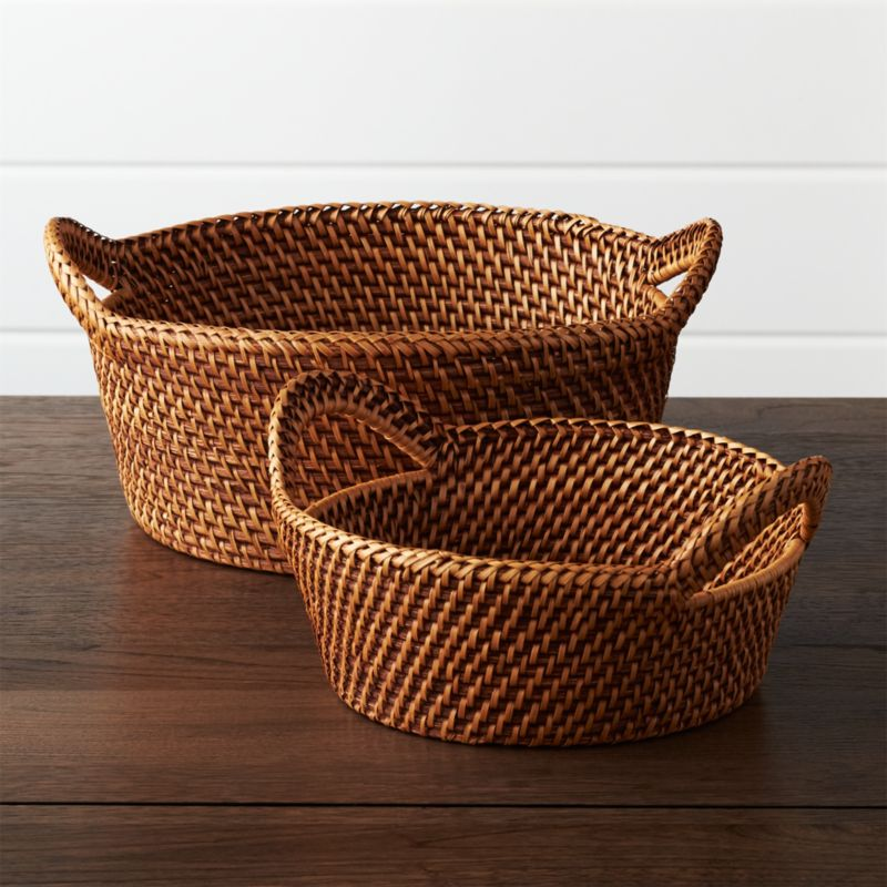 Rattan Bread Baskets Crate And Barrel