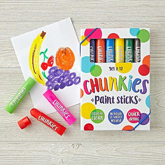 Ooly® Chunkies Paint Sticks, Set of 12