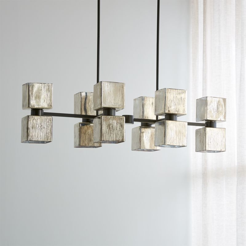 Ava Linear Chandelier Reviews Crate, What Size Linear Chandelier For Dining Room