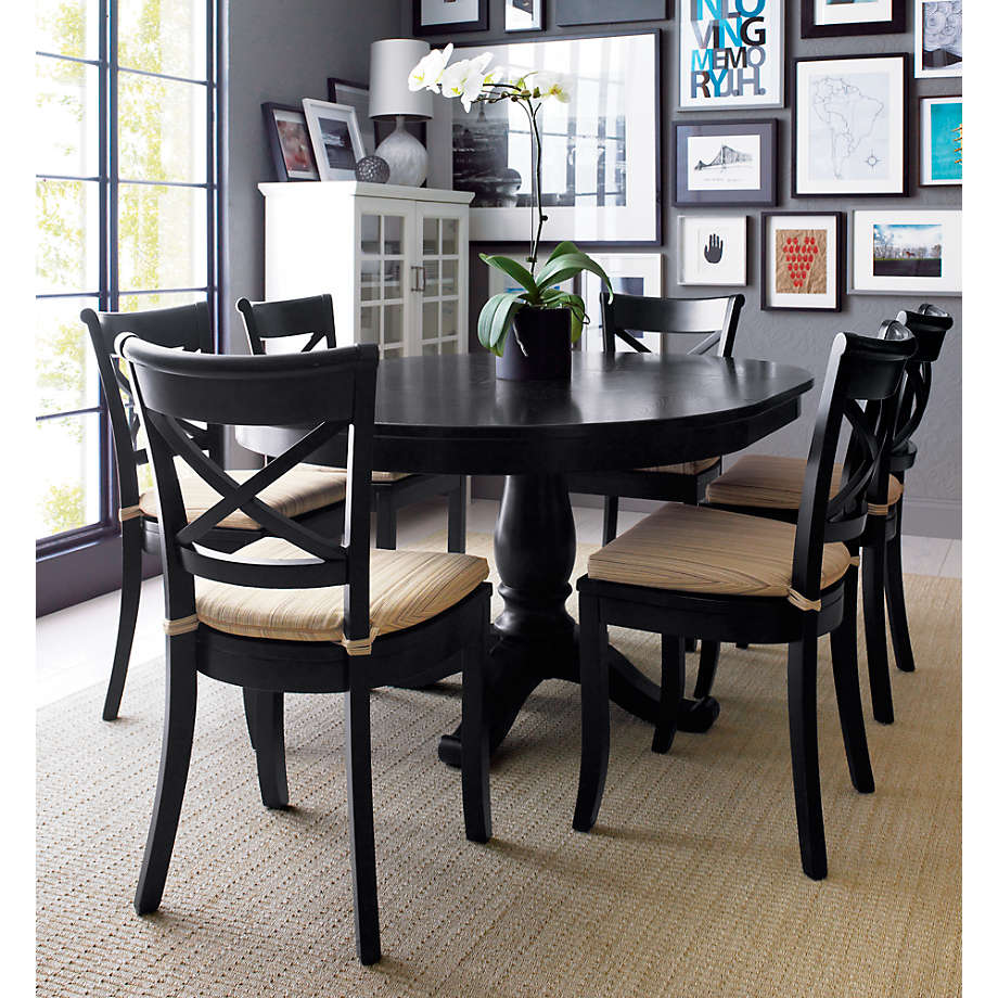 Avalon 45 Black Round Extension Dining, Small Round Black Kitchen Table And Chairs