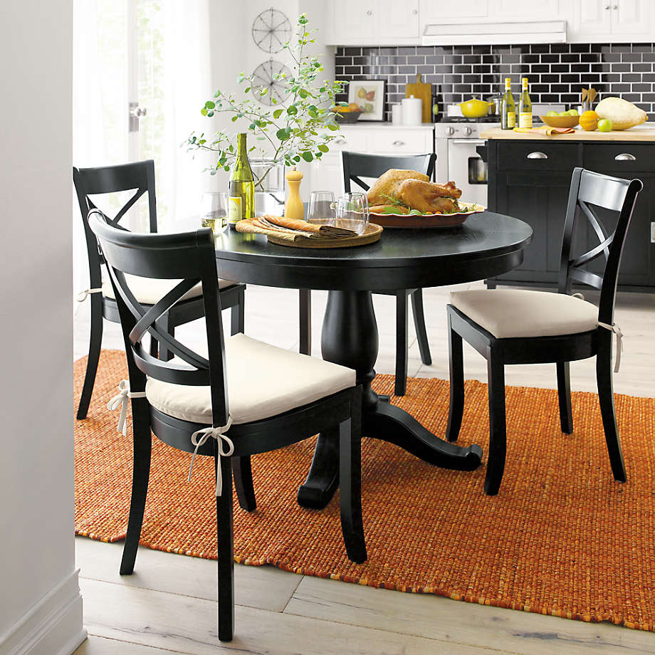 Black Round Extension Dining Table, Kitchen And Dining Room Tables