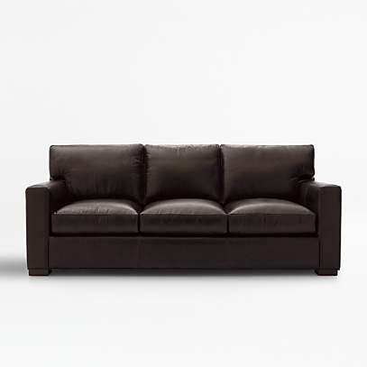 Axis Leather Queen Sleeper Sofa With, Sofa Queen Bed