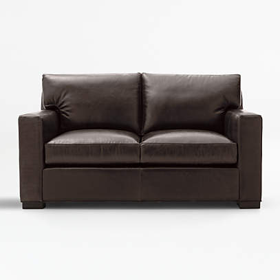Axis Brown Leather Loveseat Reviews, Leather Loveseat And Sofa