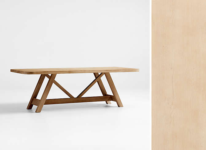 Aya Natural Wood Dining Table by Leanne Ford
