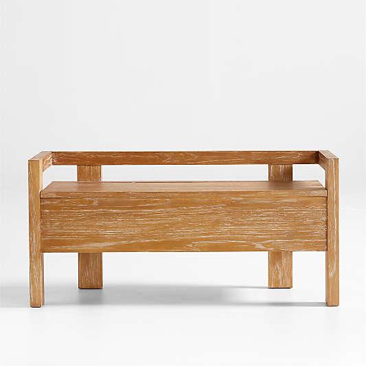 Baro Wood Entryway Storage Bench