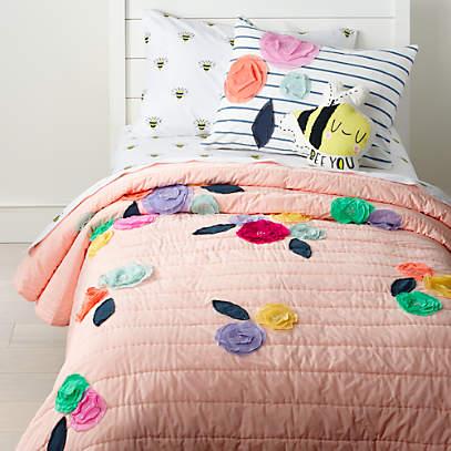 The Bees Knees Quilt Doona Duvet Cover Set Bedding Girls Kids Butterflies Teen