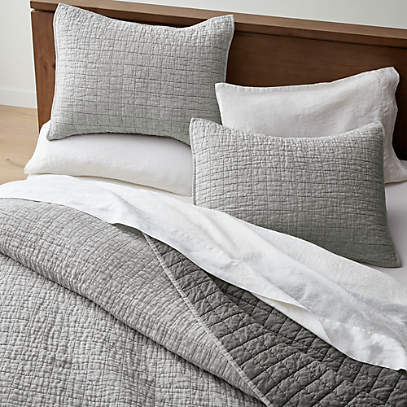 Grey Belgian Flax Linen Quilts And, Pure Linen Bedding Canada