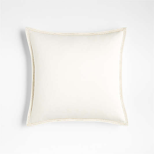 "Blanca 18"" Denim White Pillow"