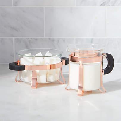 Bodum Copper Cream And Sugar Set Reviews Crate Barrel