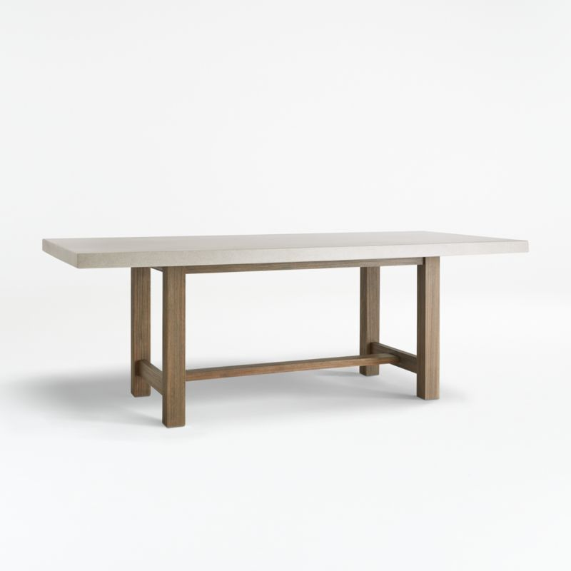 Caicos Cement Top Dining Table, Concrete Dining Room Table