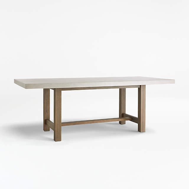 Caicos Cement Top Dining Table, Concrete Top Patio Table