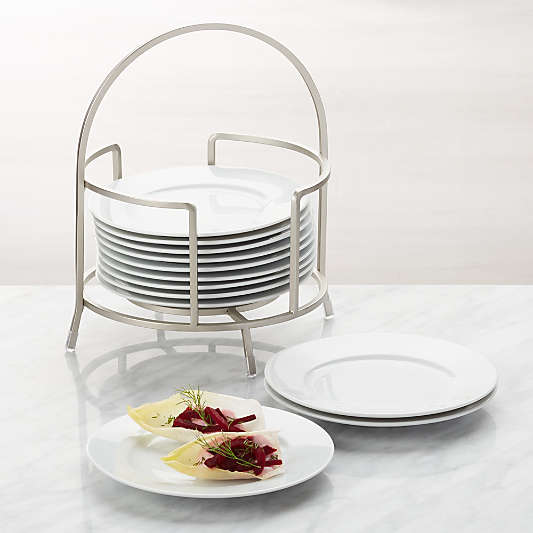 """Cambridge 6"""" Appetizer Plates with Stand, Set of 12"""