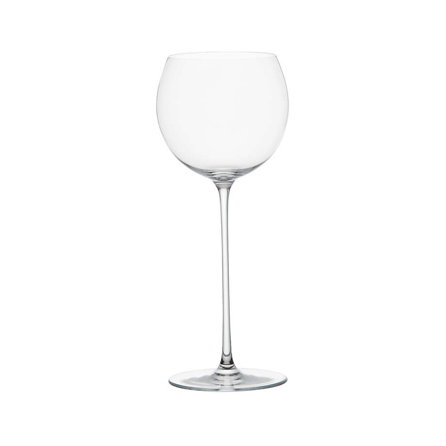 Camille 13 Oz Long Stem Wine Glass White Reviews Crate And Barrel