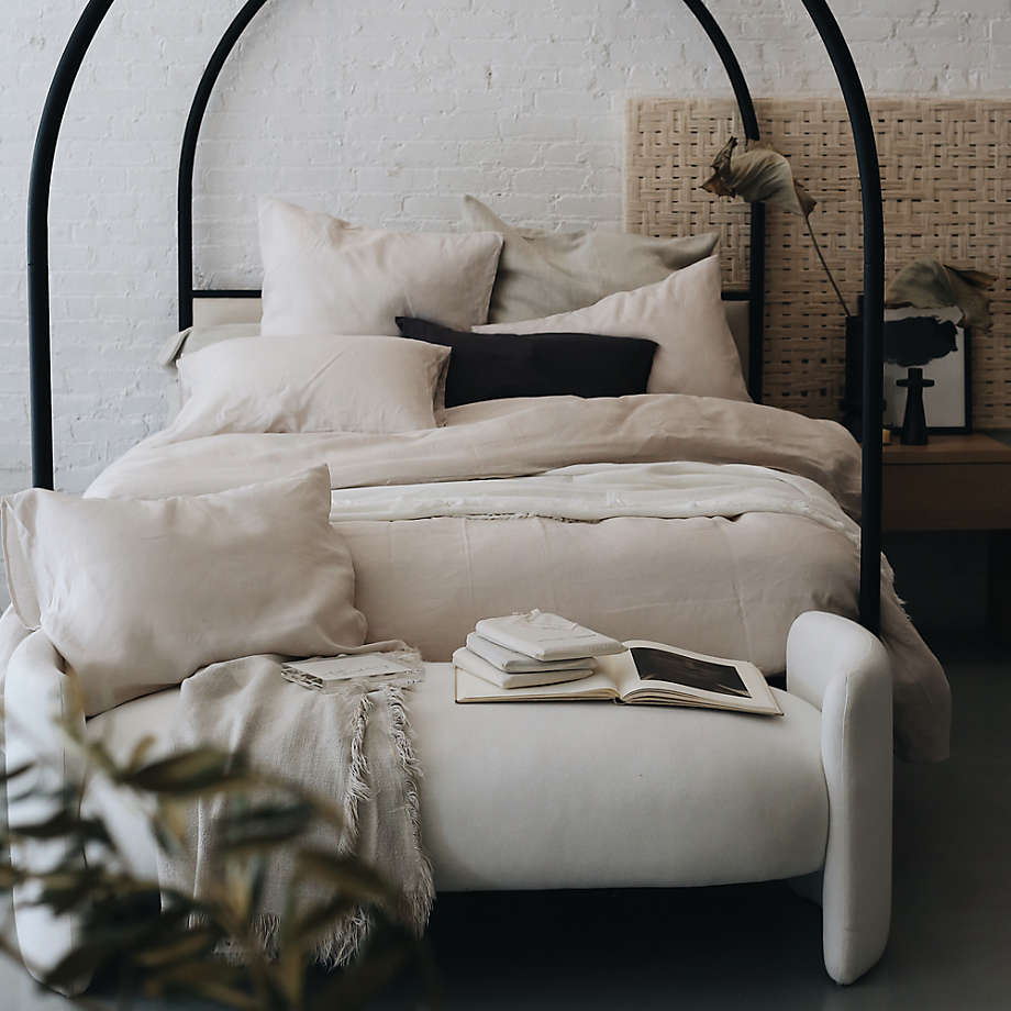 Canyon Arched Canopy Bed with Upholstered Headboard by Leanne Ford (Open Larger View)
