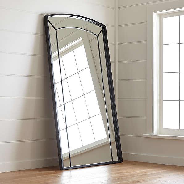 Floor Wall And Full Length Mirrors, Full Length Mirror Black Trim