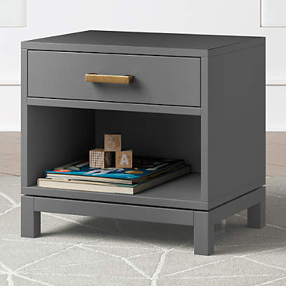 Kids Parke Charcoal Nightstand Reviews Crate And Barrel