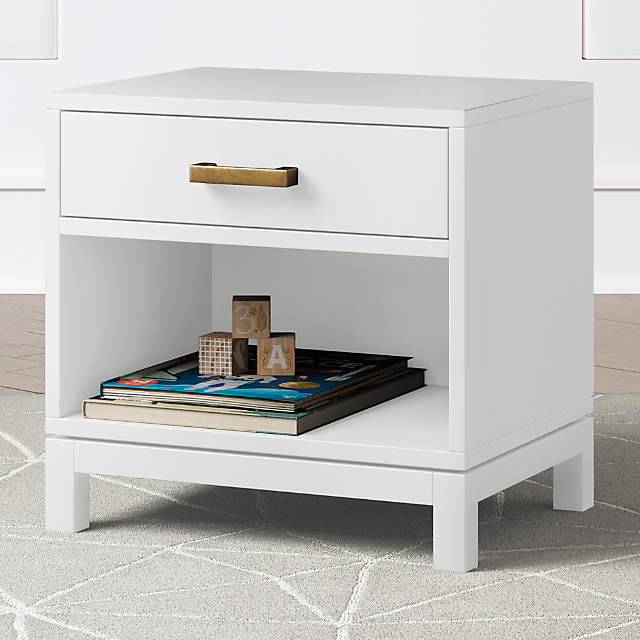 Kids Parke White Nightstand Crate And Barrel