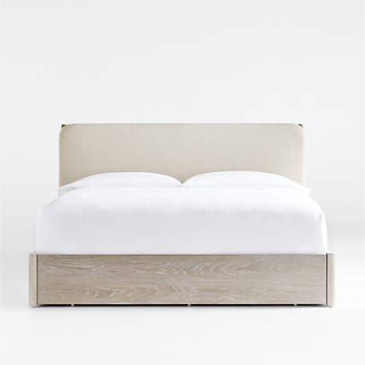 Casa King White Storage Bed With, King Storage Bed Frame Canada