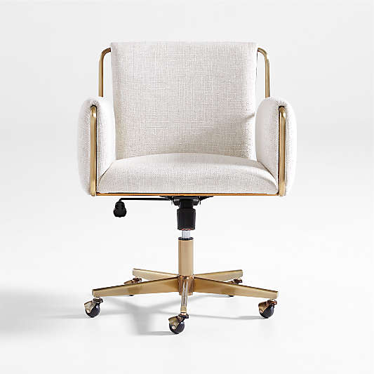 Caterina Natural Upholstered Office Chair
