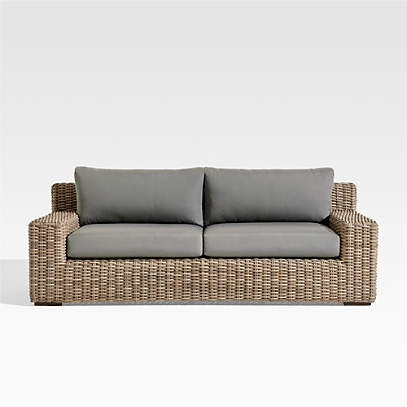 Abaco Outdoor Sofa With Graphite, Patio Sectional Replacement Cushions Canada