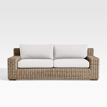 Abaco Outdoor Sofa With White Sunbrella, Outdoor Furniture Reviews
