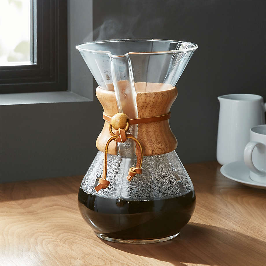 Chemex 6-Cup Coffeemaker with Wood Collar (Open Larger View)