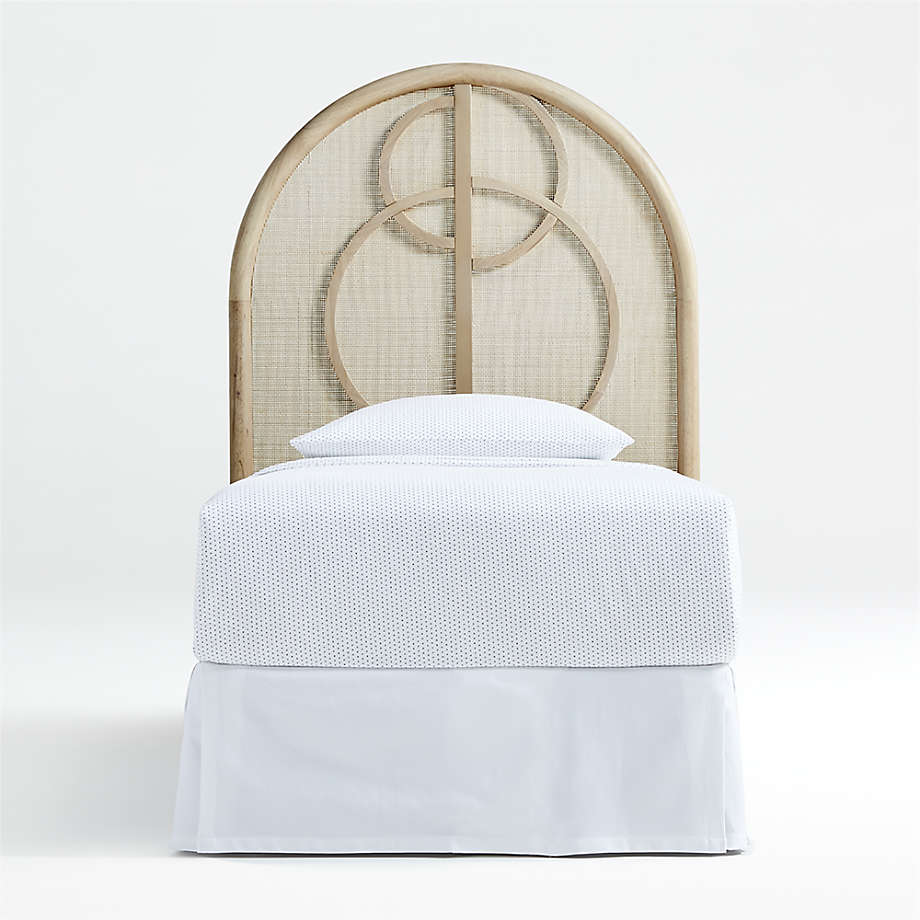 Circle Cane Twin Headboard (Open Larger View)