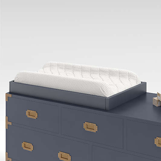 Navy Blue Changing Table Topper