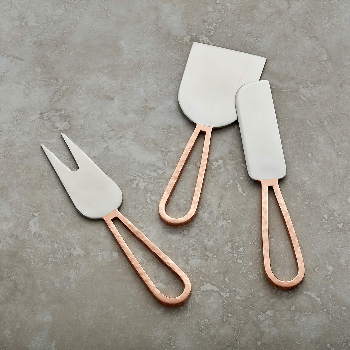 Copper Cheese Knives Crate And Barrel