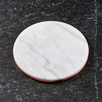 French Kitchen Marble And Copper Trivet Reviews Crate Barrel
