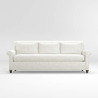 Cortina White Roll Arm Sofa Reviews Crate And Barrel