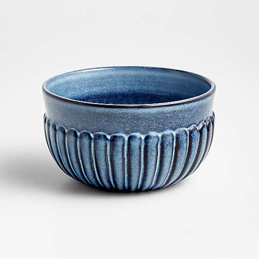 Cove Glazed Indigo Blue Bowl