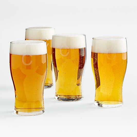 Monogrammed Craft Beer Glasses, Set of 4
