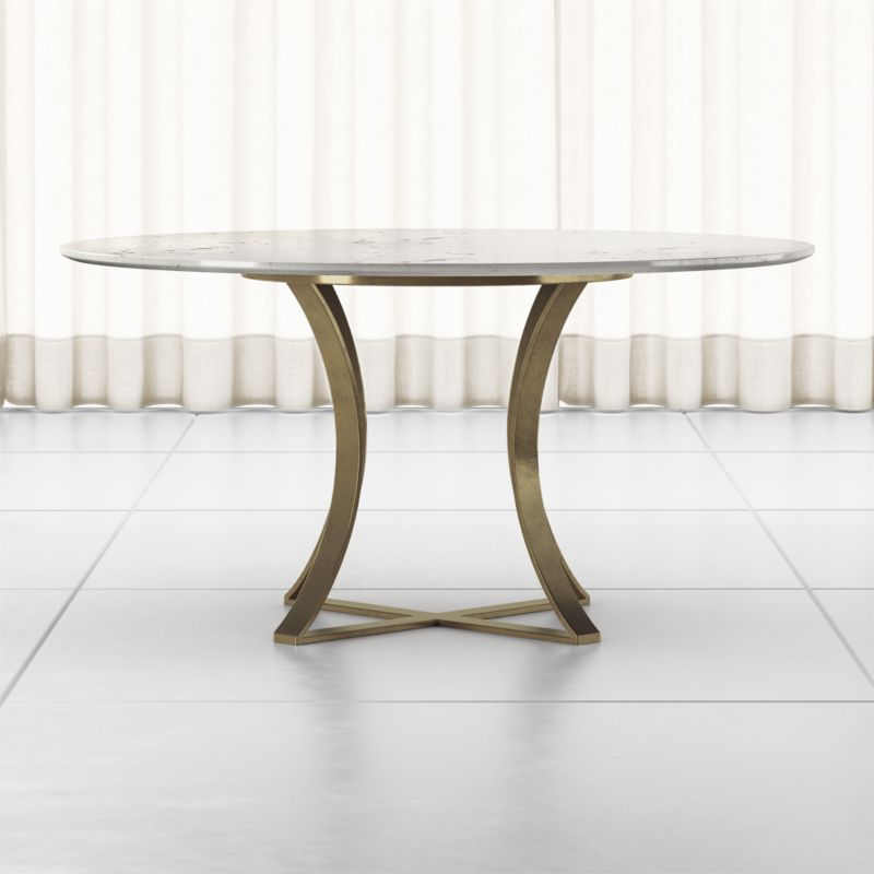 Damen 60 White Marble Top Dining Table, Marble Top Table Round