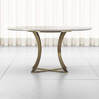 Damen 60 White Marble Top Dining Table, Round Table Tops Canada