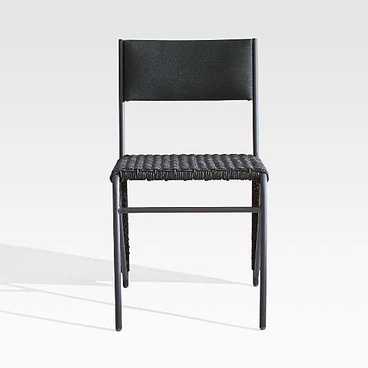 Dorado Black Small Space Outdoor Dining Chair
