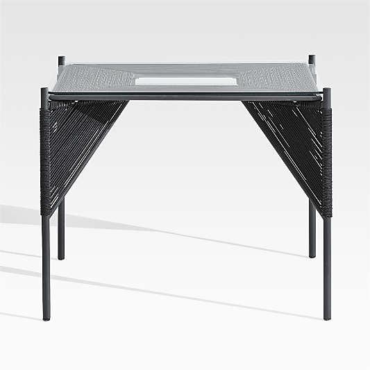 Dorado Black Small Space Outdoor Dining Table