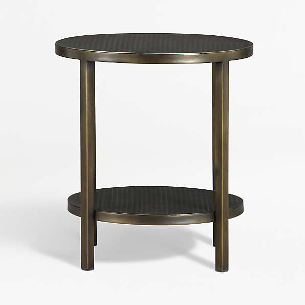 Metal End Tables Crate And Barrel, Round Metal End Tables