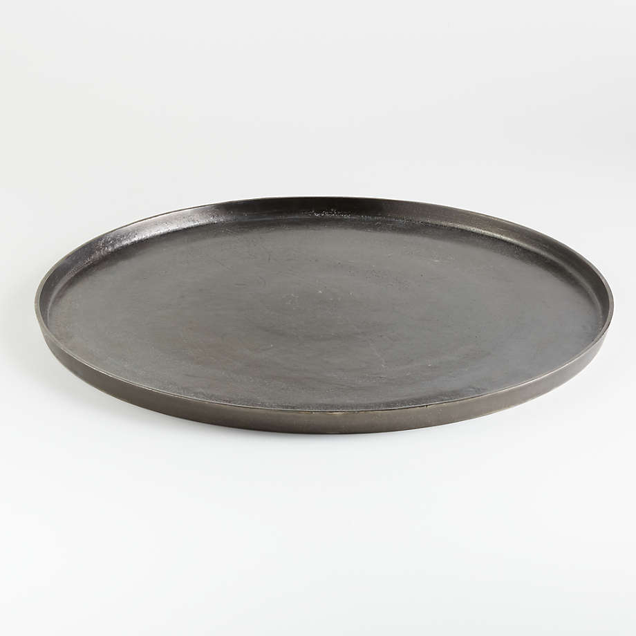 Element Metal Antiqued Pewter Tray (Open Larger View)