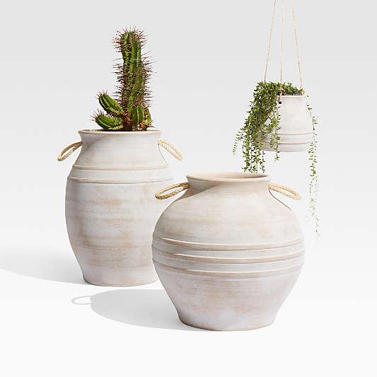 Elvy Small Ceramic Indoor/Outdoor Hanging Planter