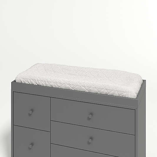 Ever Simple Charcoal Changing Table Topper