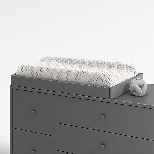 Charcoal Changing Table Topper